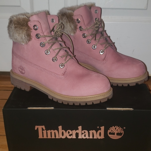 pink timberlands with fur Shop Clothing